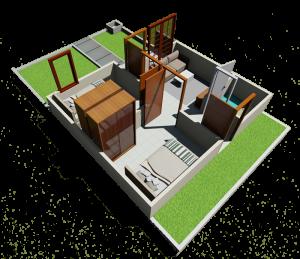 gambar 3D desain interior